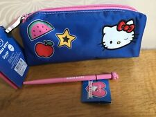 Hello Kitty White Cat Sanrio Paperchase Pencil Case & Pen BNWT NEW IMMACULATE