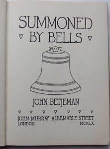 John Betjeman, Summoned by Bells, 1960 1st/1st in Dust jacket