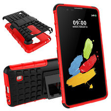 Slim Armor Kickstand Protective Phone for LG Stylus 2 Plus K550 K535 Case Cover Red