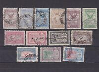 ARGENTINA 1928, Sc# C3-C18, CV $37, Air mail, part set, Used