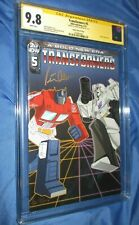 TRANSFORMERS #5 CGC 9.8 IDW Variant SS Signed Peter Cullen OPTIMUS PRIME