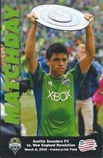 2015 Seattle Sounders vs. N.E. Revolution MLS Soccer Program - Gonzalo Pineda