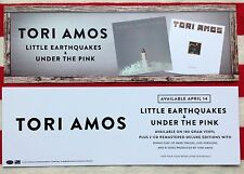 Tori Amos lot of 2 promotional cards Little Earthquakes Under The Pink