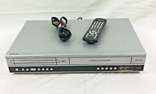 Philips DVP3340V VHS VCR Video Cassette Recorder DVD Player Combo Dual Deck Used