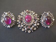 """Vintage Sarah Coventry  Brooch Clip Earrings """"Catherine""""--163"""