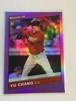 F64013  2020 Donruss Holo Purple Variations #259 Yu Chang RETRO INDIANS