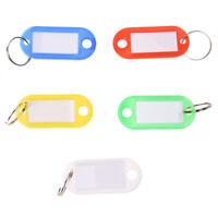 50 Pcs Colorful Key ID Label Tags Split Ring Keyring Keychain E8Y4