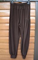 Pantalon sarouel bloomer femme taille 46 marron chocolat ZAZA2CATS