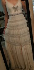 BHLDN Needle & Thread Embellished Bow Dress Gown size US 8 $509