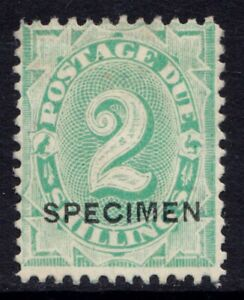 Australia two shilling postage due stamp with Specimen overprint