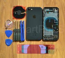 Back Housing Battery Cover Glass WITH SMALL PARTS + TAPTIC ENGINE iPhone 8 BLACK