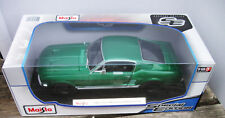 Maisto Classic Diecast Green 1967 Ford Mustang Fastback 1:18 Special Edition