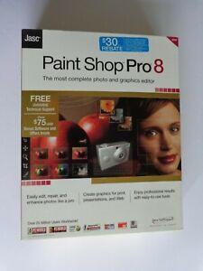 Jasc Paint Shop Pro 8 (New Factory Sealed Retail Box)