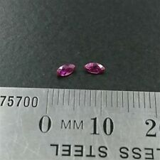 NATURAL LOOSE RUBIES x2 - Marquise cut 4 x 2mm - Red Ruby - FREE POST