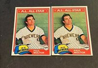 1981 Topps #300 Paul Molitor - Brewers (2)
