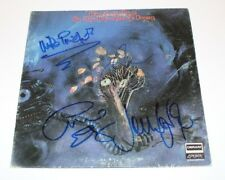 THE MOODY BLUES BAND SIGNED ON THE THRESHOLD OF A DREAM VINYL ALBUM RECORD w/COA