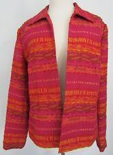 Coldwater Creek Pink Orange Jacket Size Medium Open Front Lined
