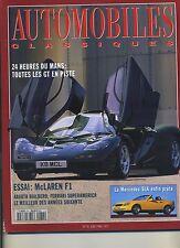 AUTOMOBILES CLASSIQUES n°74 06/1996 MAC LAREN F1 MERCEDES SLK ABARTH BIALBERO