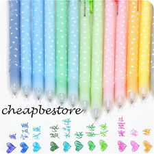 12 pcs 0.5mm Cute Lovely Shining Candy Color Ballpoint Pen Stationery Kid Gift