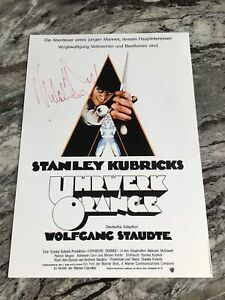 MALCOLM MACDOWELL A CLOCKWORK ORANGE AUTHENTIC SIGNED AUTOGRAPH POSTER