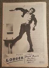David Bowie Lodger 1979 Presseanzeige komplette page 30 x 42 cm mini poster