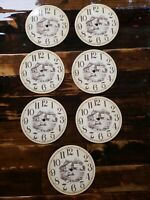 """ONE #1 ENAMELED? Metal Clock Dial Face Farm Country Barn parts Clock 7"""" Have 4"""