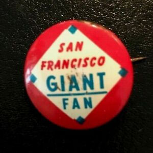 San Francisco Giants Fan Guys Potato Chips 1964 Pin Button - Rare Collector Item