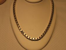 Vintage 925 Sterling Silver 4.5 mm HEAVY Box Chain 21 1/2 Inches 57.96 Grams