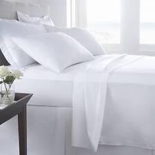 "*HOTEL QUALITY WHITE 220 THREAD EGYPTIAN COTTON LARGE SINGLE FLAT SHEET 70X108"")"