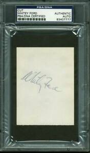 Yankees Whitey Ford Authentic Signed 2.75X3.75 Cut Autographed PSA/DNA Slabbed