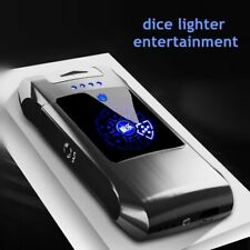 Lighter Metal Flameless Torch Windproof Double Arc Pulse Dice Screem Fingerprint
