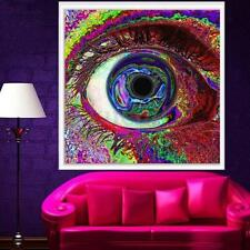 60×60cm Eye Psychedelic Trippy Art Silk Cloth Poster Home Room Wall Decoration