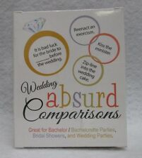 Wedding Absurd Comparisons Game Ez Hot Fun Party Bachelorette Guys Girls Novelty