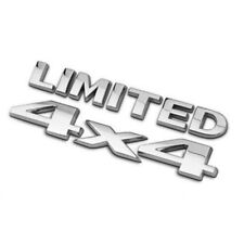 3D 4x4 LIMITED Badge ABS Tail Emblem Sticker Logo For JEEP Car Decoration Chrome