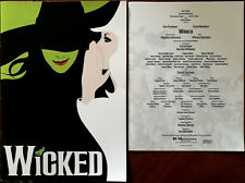 More details for wicked by stephen schwartz, large glossy theatre brochure 2006 + insert