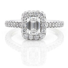 Solitaire 1.75 Ct Diamond Engagement Ring 14K Gold Rings Size 5.25, 6, 7