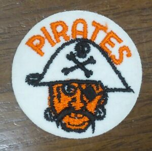"""☆ Authentic 1970's era 2"""" MLB Team Patch All Sewn/Stitched - PITTSBURGH PIRATES"""