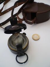 WW 2 British Military Prismatic Compass Dated 1942 and Leather Case