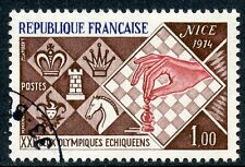 STAMP / TIMBRE FRANCE OBLITERE N° 1800 XXI JEUX OLYMIQUES ECHIQUEENS