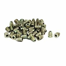uxcell M5x14mm Interface Hex Socket Threaded Insert Nuts 50pcs for Wood Furni...