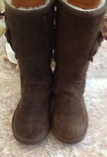UGG Australia Retro Cargo Chestnut Boots Kids US Size 3 S/N 1968