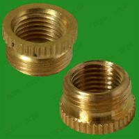 "1/2"" Male To 10mm Female Brass Lamp Holder M10 Thread Reducer Bush Convert Adapt"