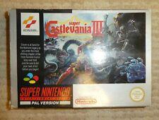 Nintendo snes Castlevania IV 4  Boxed cart very good Condition inc Manual