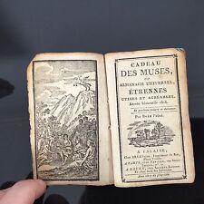 Cadeau Des Muses Almanach 1816 Carte de France Carte d'Europe Météorologie