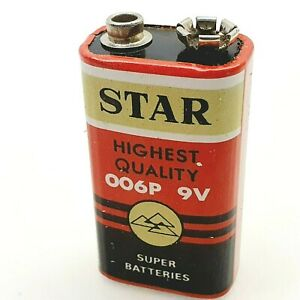 Star 9V Battery for transistor radio 1970's vintage