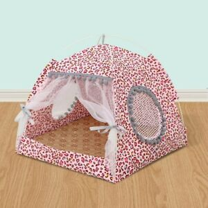 Summer Pet Bed with Cushion Sleeping House Detachable Cleaning Dog Cat House