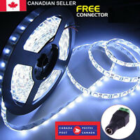 New Waterproof 600 LEDs Cool White DC 12V 5M 3528 SMD Bright LED Strip Lights CA