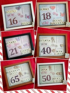 PERSONALISED BIRTHDAY GIFT Frame 60th 65th 70th 75th 80th 90th Keepsake Picture