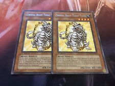 Yu-Gi-Oh Crystal Beast Topaz Tiger DP07-EN004! Rare! 1st! X2! LP