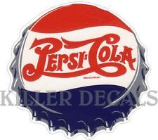 "12"" PEPSI CAP COOLER POP SODA MACHINE DECAL"